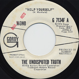 Undisputed Truth / Help Yourself c/w (Mono) back