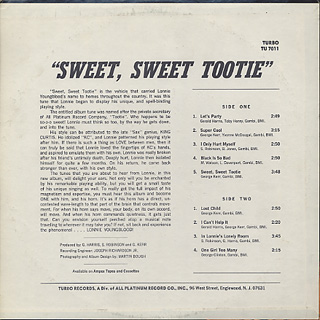 Lonnie Youngblood Sweet Sweet Tootie - In My Lonely Room