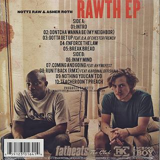 Nottz Raw x Asher Roth / Rawth EP (+ Instrumental DL Card) back