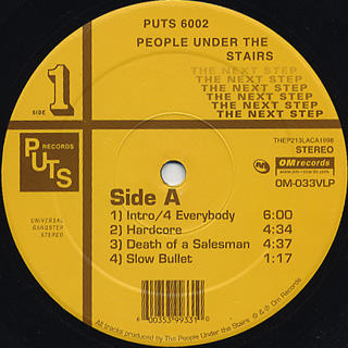 People Under The Stairs The Next Step Lp Puts 中古