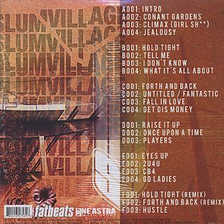 Slum Village / Fantastic Vol. 2 Instrumentals (3LP + Poster) back