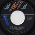Al Green / Let's Stay Together c/w Tomorrow's Dream