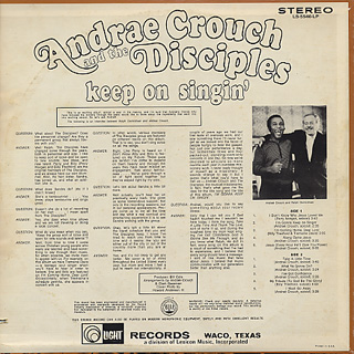 Andrae Crouch & The Disciples / Keep On Singin' back