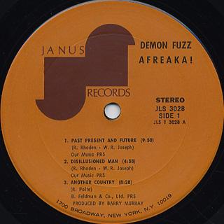Demon Fuzz / Afreaka! label
