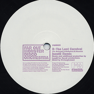 Far Out Monster Disco Orchestra / The Last Carnival back