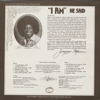 Jimmy Mamou / I Am He Said back