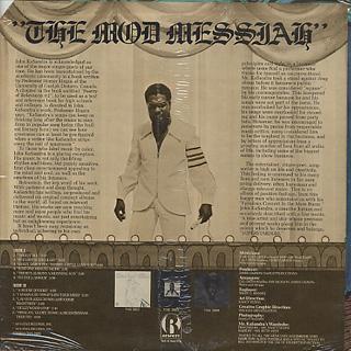 John Kasandra / The Mod Messiah back