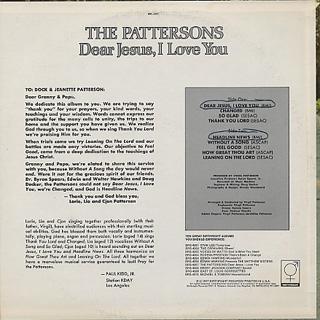 Pattersons Dear Jesus I Love You