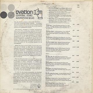 V.A / Ovation Compatible Stereo Quadraphonic Sound back