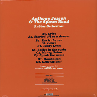 Anthony Joseph & The Spasm Band / Rubber Orchestras back