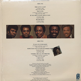 Harold Melvin & The Blue Notes / All Their Greatest Hits! back