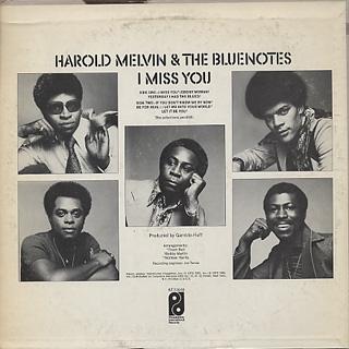 Harold Melvin & The Blue Notes / I Miss You back