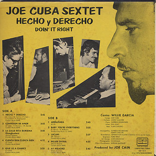 Joe Cuba Sextet / Don't It Right Hecho y Derecho back