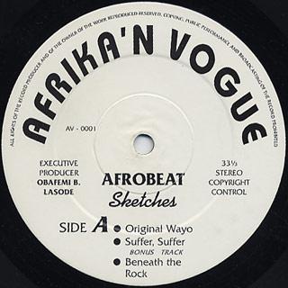 Sketches / Afrobeat label