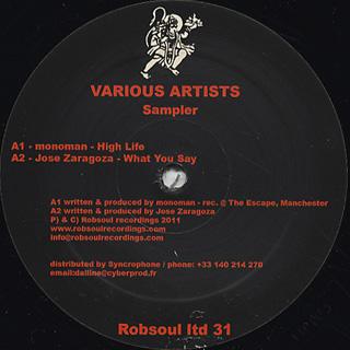 V.A. / Robspul Ltd Sampler 31 back