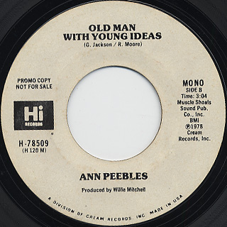 Ann Peebles / Old Man With Young Ideas back
