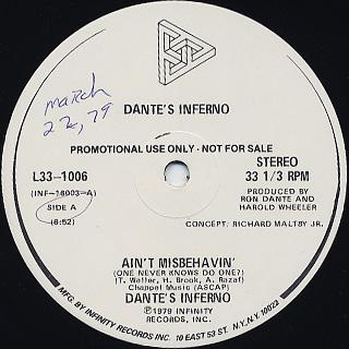 Dante's Inferno / Ain't Misbehavin' back