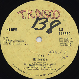 Foxy / Hot Number c/w Call It Love/Give Me A Break