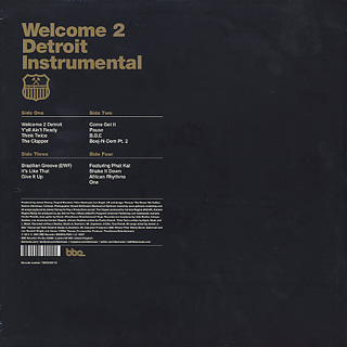 Jay Dee aka J Dilla / Welcome 2 Detroit Instrumental (New Cover) back