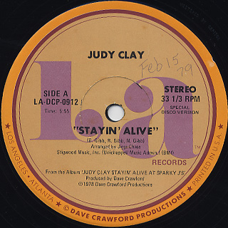 Judy Clay / Stayin' Alive back