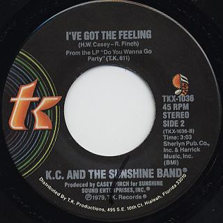 KC & The Sunshine Band / I've Got The Feeling