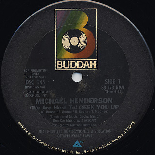Michael Henderson - (We Are Here To) Geek You Up / Come To Me