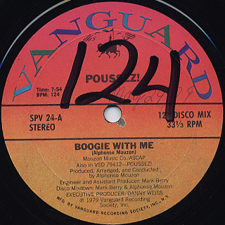 Poussez! / Boogie With Me c/w You're All I Have