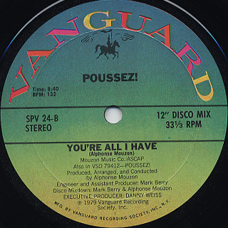 Poussez! / Boogie With Me c/w You're All I Have back