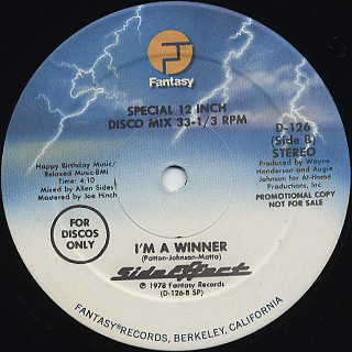 Side Effect / Disco Junction c/w I'm A Winner back