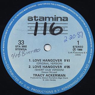 Tracy Ackerman / Love Hangover
