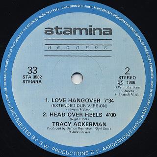 Tracy Ackerman / Love Hangover back