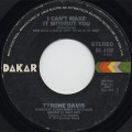 Tyrone Davis / I Can't Make It Without You c/w You Wouldn't Believe