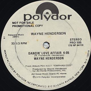 Wayne Henderson / Dancin' Love Affair