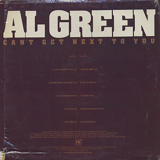 Al Green / Can't Get Next To You back