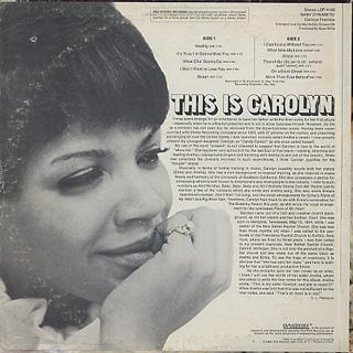 Carolyn Franklin / Baby Dynamite! back