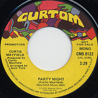Curtis Mayfield / Party Night back