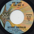 Detroit Emeralds / You Want It, You Got It