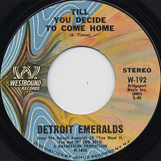 Detroit Emeralds / You Want It, You Got It back