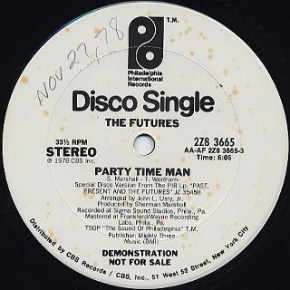 Futures / Party Time Man c/w You Got It(The Love That I Need) front