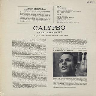 Harry Belafonte / Calypso back