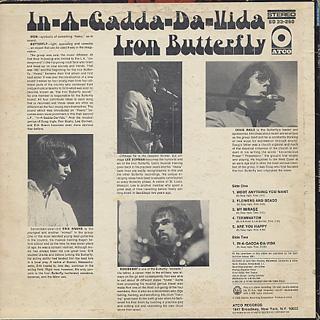 Iron Butterfly / In-A-Gadda-Da-Vida back