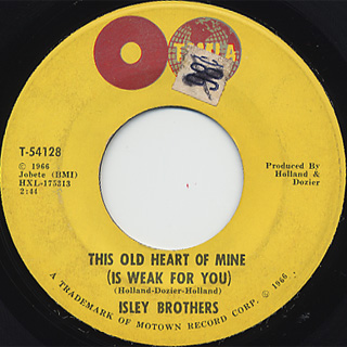 Isley Brothers / There's No Love Left c/w This Old Heart Of Mine back
