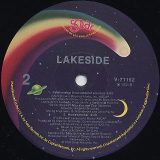 Lakeside / Relationship c/w (Instrumental) / Homewreker back