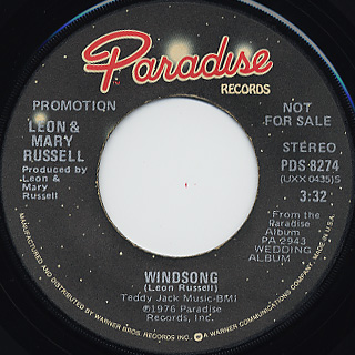Leon & Mary Russell / Satisfy You c/w windsong back