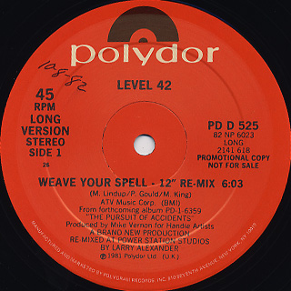 Level 42 / Weave Your Spell front