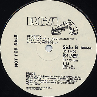 Odyssey / Single Again/What Time Does The Ballon Go Up c/w Pride back