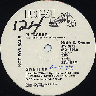 Pleasure / Give It Up