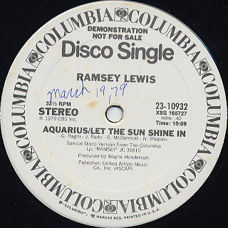 Ramsey Lewis / Aquarius/Let The Sun Shine In
