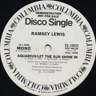 Ramsey Lewis / Aquarius/Let The Sun Shine In back