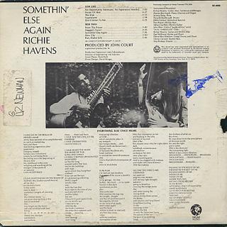 Richie Havens / Something Else Again back